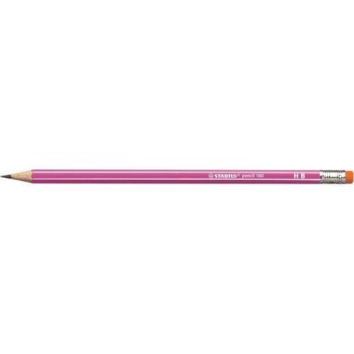 """Grafitceruza radírral, HB, hatszögletű, STABILO """"Pencil 160"""", rózsaszín"""