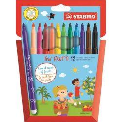 """Filctoll készlet, illatos, STABILO """"Trio Frutti"""", 12 különböző szín"""
