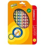 """Színes ceruza készlet, háromszögletű, balkezes, STABILO """"EasyColours"""", 12 szín (TST33112)"""