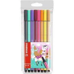 """Rostirón készlet, 1 mm, STABILO """"Pen 68 Living Colors"""", Láma, 8 különböző szín"""