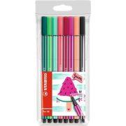 """Rostirón készlet, 1 mm, STABILO """"Pen 68 Living Colors"""", Görögdinnye, 8 különböző szín"""