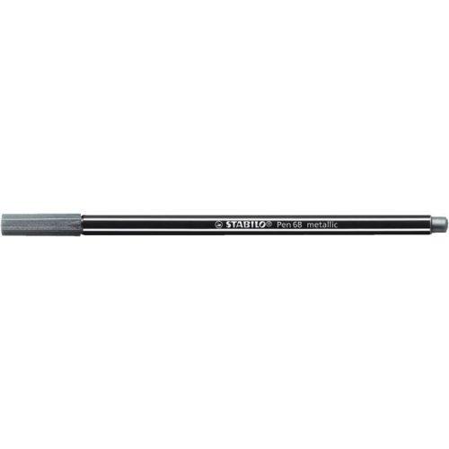 "Rostirón, 1,4 mm, STABILO ""Pen 68 metallic"", ezüst"
