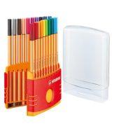 """Tűfilc készlet, 0,4 mm, STABILO """"Point 88 ColorParade"""", 20 különböző szín"""