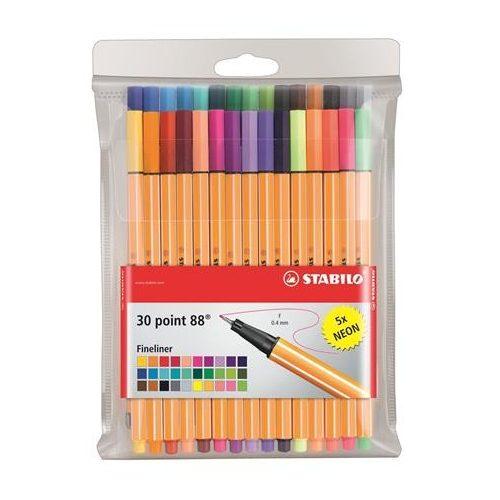 """Tűfilc készlet, 0,4 mm, STABILO """"Point 88"""", 25+5 különböző szín (TST88301)"""