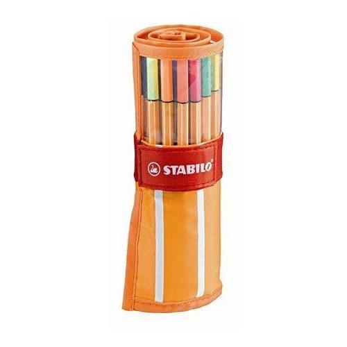 """Tűfilc készlet, 0,4 mm, felcsavarható szett, neon színekkel, STABILO """"Point 88"""", 30 különböző szín (TST88302)"""