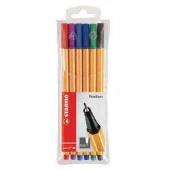"""Tűfilc készlet, 0,4 mm, STABILO """"Point 88"""", 6 különböző szín (TST886)"""