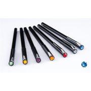"""Golyóstoll, fekete """"Magnetic"""", zafírkék SWAROVSKI® kristállyal, 14cm, ART CRYSTELLA®"""