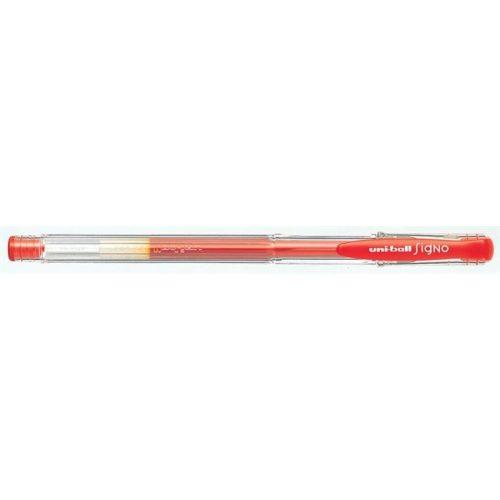 "Zseléstoll, 0,3 mm, kupakos, UNI ""UM-100 Signo Micro"", piros"