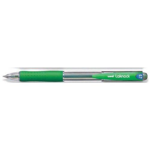 "Golyóstoll, 0,25 mm, nyomógombos, UNI ""SN-100 Laknock"", zöld"
