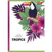 """Spirálfüzet, A5, kockás, 96 lap, UNIPAP """"Tropic"""""""