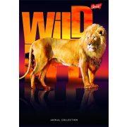 """Spirálfüzet, A4, kockás, 96 lap, UNIPAP """"Wild life"""""""