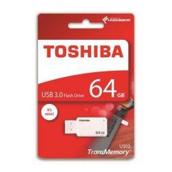 "Pendrive, 64GB, USB 3.0, TOSHIBA ""U303"", fehér"