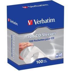 CD boríték, papír, ablakos, öntapadó füllel, VERBATIM, fehér (V49976)