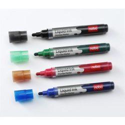 Táblamarker, 1-3 mm, folyékonytintás, NOBO, kék (VN1075)