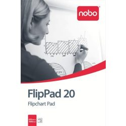 Flipchart papír, 650X955mm, 20 lap, NOBO