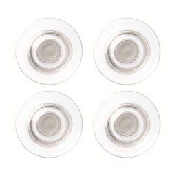 Erős mágnes, 4 db,  üvegtáblákhoz, NOBO, átlátszó