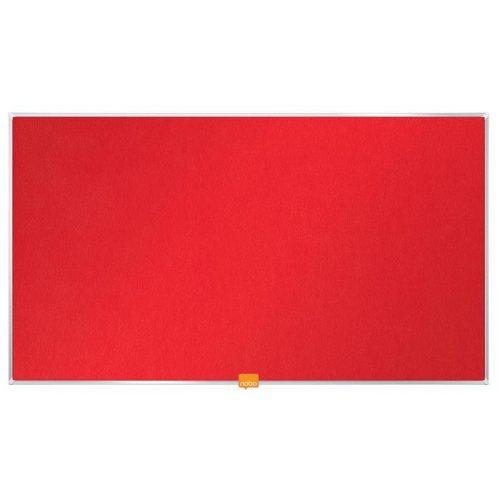 """Textiltábla, széles képarány,32""""/71x40 cm, alumínium keret, NOBO, piros"""
