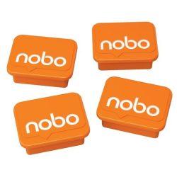 Mágnesek fehértáblához 4 db, NOBO narancs