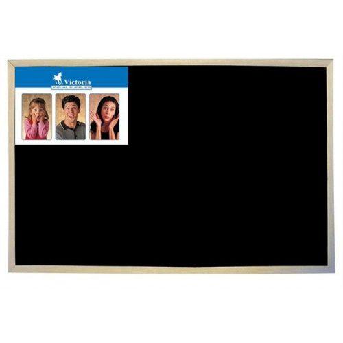 Krétás tábla, fekete felület, nem mágneses, 30x40 cm, fakeret, VICTORIA (VVI09)