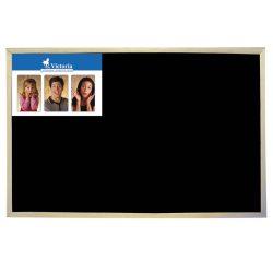 Krétás tábla, fekete felület, nem mágneses, 40x60 cm, fakeret, V