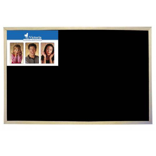 Krétás tábla, fekete felület, nem mágneses, 60x90 cm, fakeret, VICTORIA (VVI11)