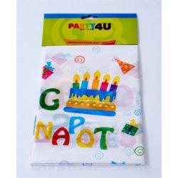 """Terítő, 130x180 cm, """"Boldog születésnapot"""""""